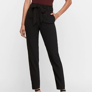 High Waist Paperbag Ankle Pant